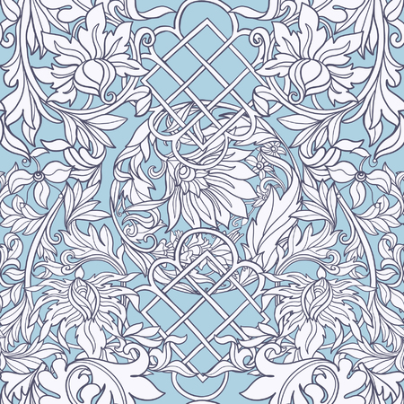 ages: Floral seamless pattern in middle ages style.