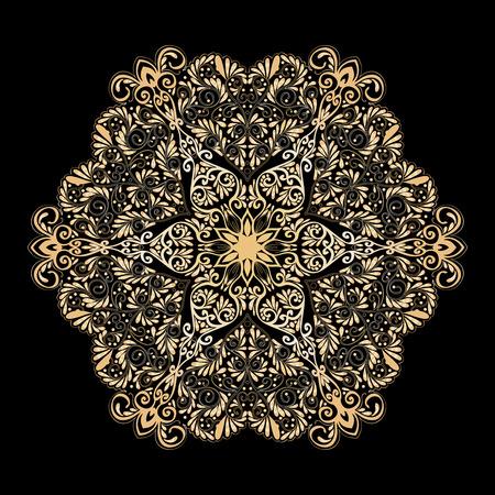 ritual: Decorative mandala with Love hearts ?? gold and black