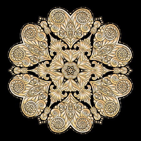 Decorative mandala with Love hearts ?? gold and black