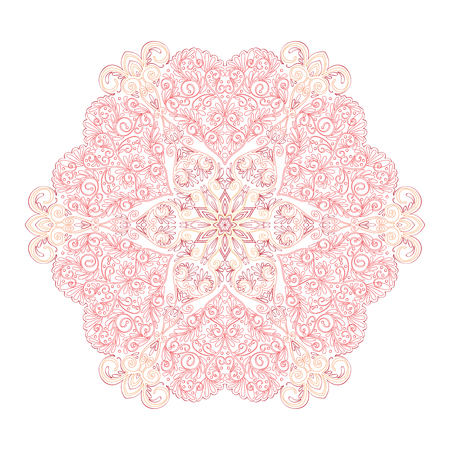 Colored Decorative mandala with Love hearts Stok Fotoğraf