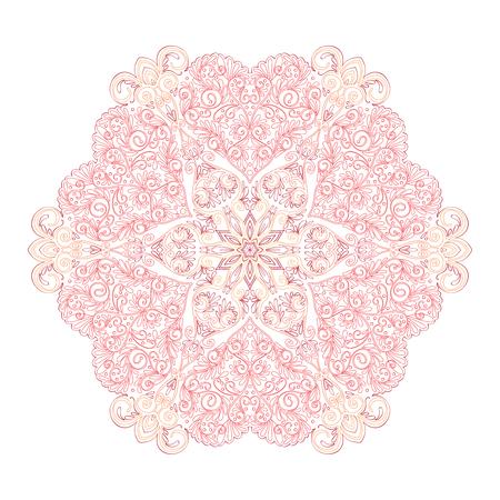 Gekleurde Decoratieve mandala met de harten van de liefde Stockfoto