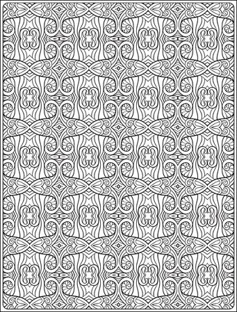 Modelo Ornamental Relajación Antiestrés Libro De Colorante Para Los ...