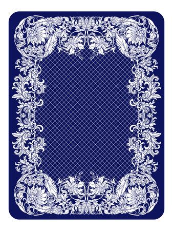 Carte à jouer face arrière avec motif vintage. Banque d'images - 63602279
