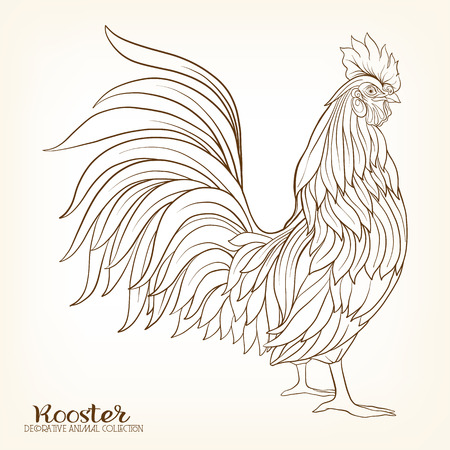 chinese symbol: Rooster. Chinese New Year Symbol 2017 New Year.