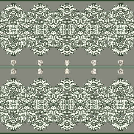 rococo: Seamless pattern in rococo style, victorian style, in renaissance style, in baroque style. Illustration