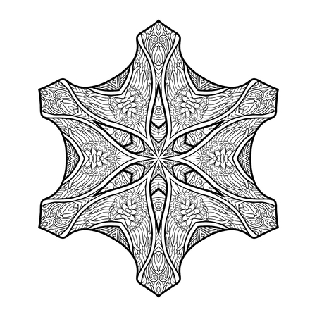 Deco Mandala, Patterned Designelement, Ethnische Amulett. Anti ...