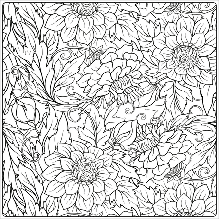 Patrón Floral. Fondo De Flores. Patrón Floral Con Flores Dibujadas A ...
