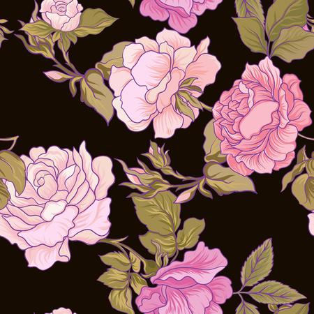 Rose Naadloos patroon