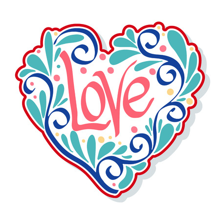decorate notebook: Love Heart fashion patch, badges, stripes, stickers. This illustration can be used as a print on T-shirts, bags, tattoo, badges or patch