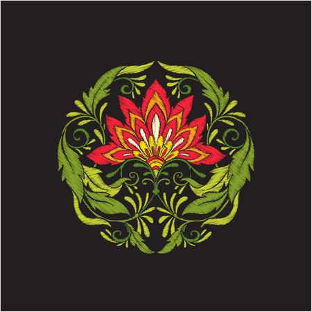刺繍ヴィンテージ花花束またはパターン