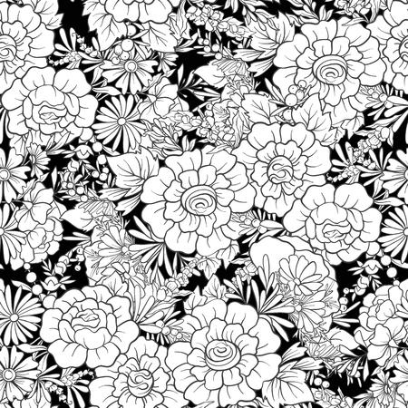 플로랄 원활한 패턴