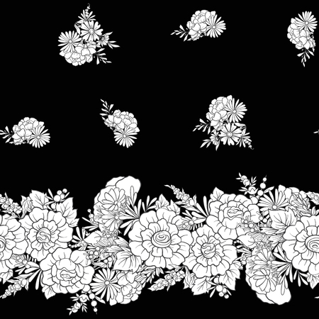 butterfly background: Floral seamless pattern