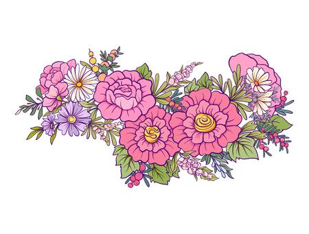 Bouquet of flowers. Illustration