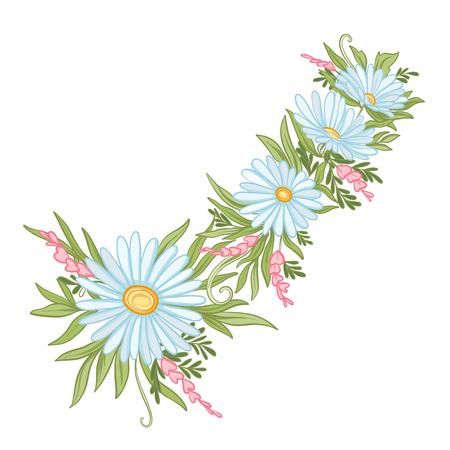 꽃의 꽃다발입니다.