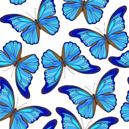 Vlinders. Kleurrijk naadloos patroon, achtergrond. Stock Illustratie