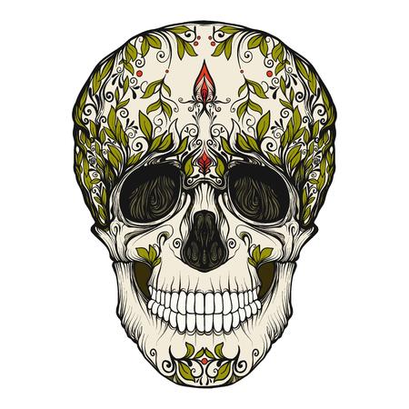 설탕 두개골. 죽은 날의 전통적인 상징. 스토크