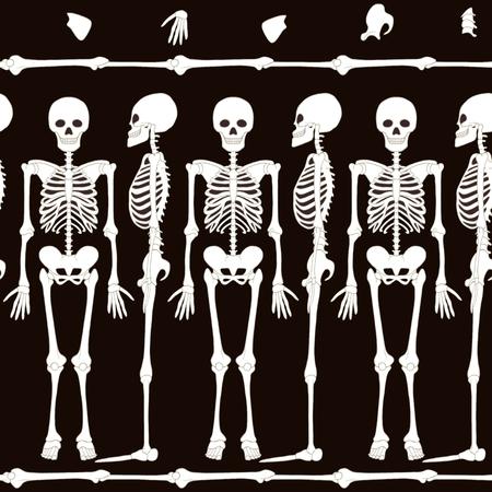 Motif sans couture, arrière-plan avec des squelettes de danse. Banque d'images - 83248602