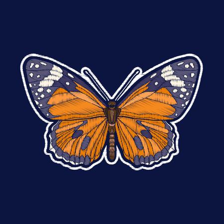 Farfalla. Ricamo. Fachion patch badges