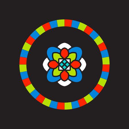 tibet: Tibet mandala on black background.