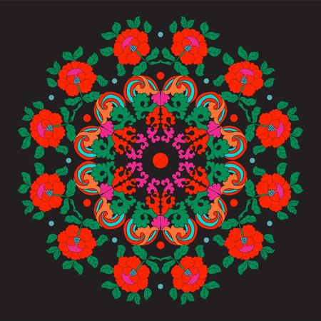黒の背景にアジア風のヴィンテージ装飾的な要素。 写真素材 - 85623305