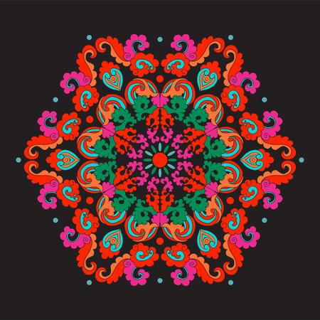 黒の背景にアジア風のヴィンテージ装飾的な要素。 写真素材 - 85623304