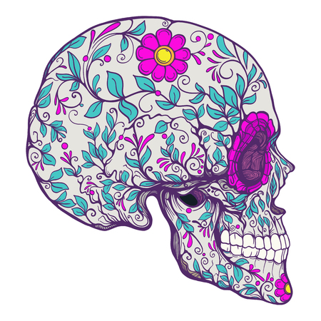 The traditional symbol of the Day of the Dead Ilustrace