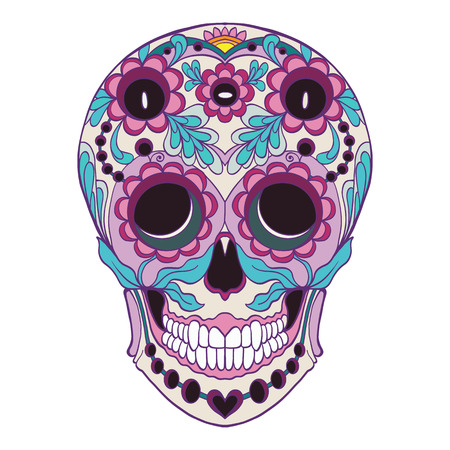 The traditional symbol of the Day of the Dead Ilustracja