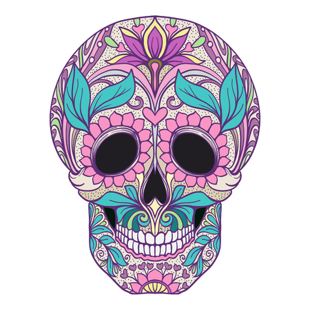 The traditional symbol of the Day of the Dead Иллюстрация