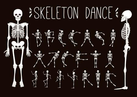 Dancing skeletons set.