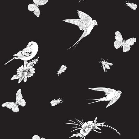 botanical style pattern