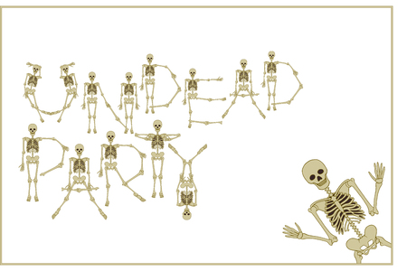 Lettering of undead party using skeleton.