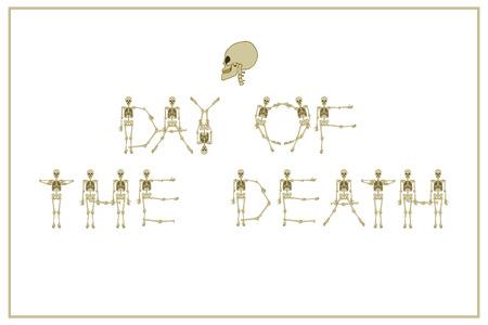 Jour de lettrage de la mort Banque d'images - 85653005