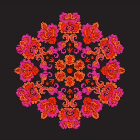 アジアのスタイルで刺繍ヴィンテージ装飾的な要素 写真素材 - 85697208