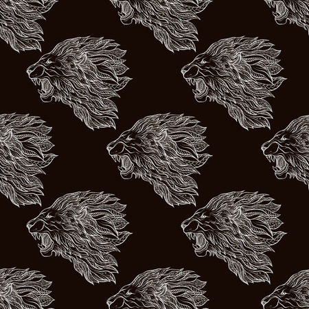 Seamless pattern, background. Graphic in black and white colors.