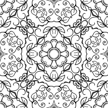 Patrones Sin Fisuras Fondo Con Patron Abstracto Floral Geometrico