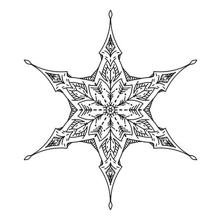 Star in decorative style. Stock line vector illustration. Фото со стока - 86434499
