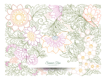 Banner, poster, invitation background with abstract decorative. Çizim