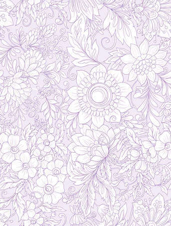 Seamless pattern, background with abstract decorative summer flo Illustration