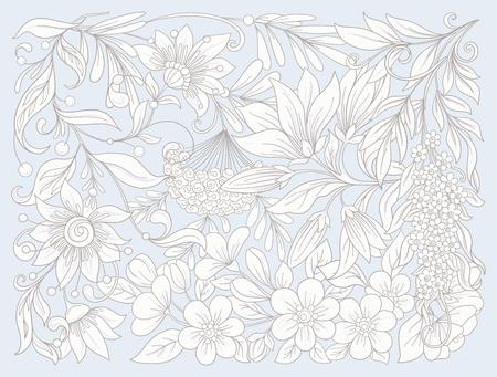 花の組成物。春の花。 ベクトルの図。
