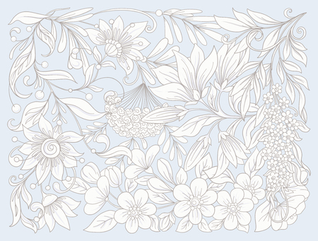 Floral composition. Spring flowers.  Vector illustration. Illusztráció