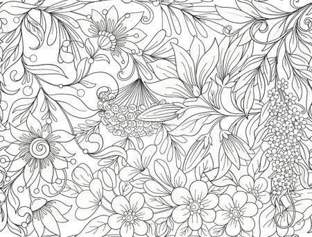 Naadloos patroon, achtergrond met lente bloemen magnolia, zak