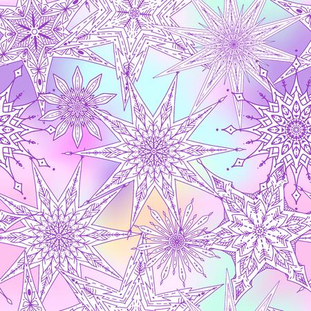 星の反復的なパターン デザイン
