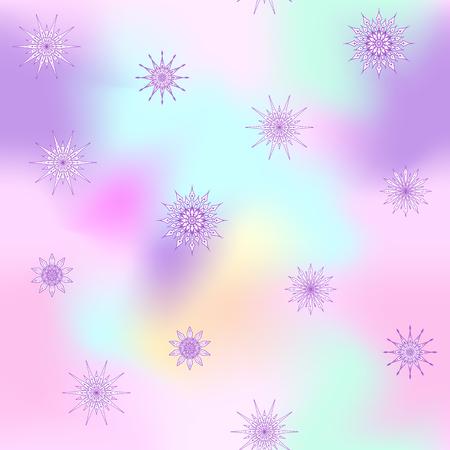 装飾的な星パターンの繰り返し柄