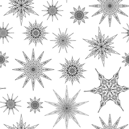 Decorative stars repetitive pattern design Illusztráció