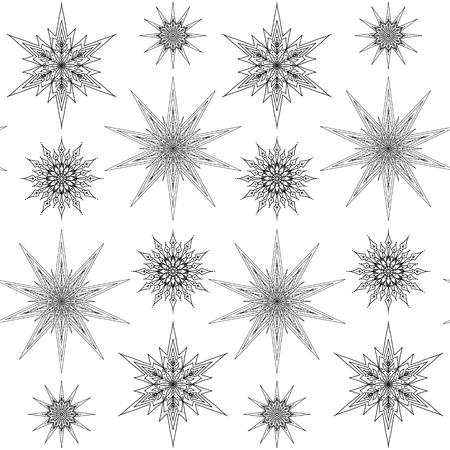 Decorative stars repetitive pattern design Иллюстрация