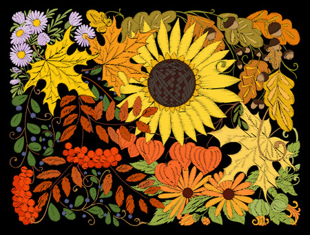 Flowers embroidery for fashion.