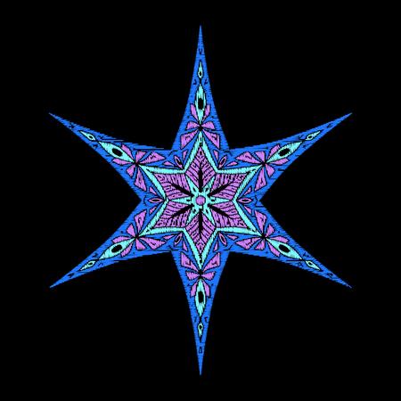 ファッションの星刺繍。