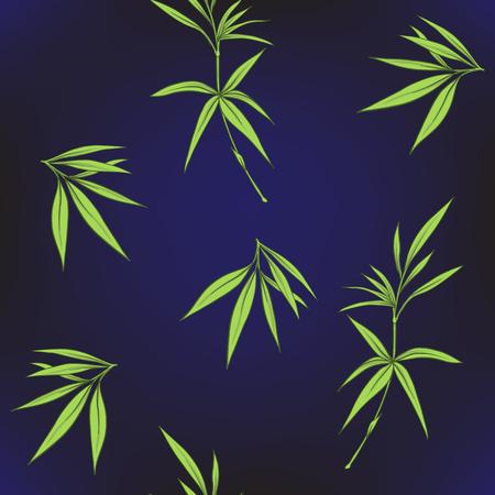 Modèle sans couture avec des feuilles de bambou et des branches en sty japonais Banque d'images - 86201420