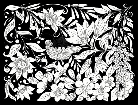 Floral composition. Spring flowers. Vector illustration.