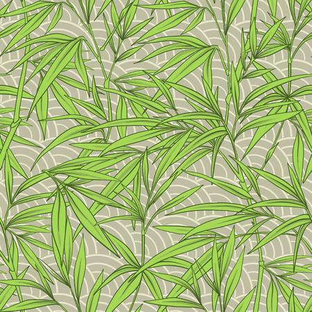 Seamless avec des feuilles de bambou et des branches dans le style japonais . illustration vectorielle de style Banque d'images - 86311890